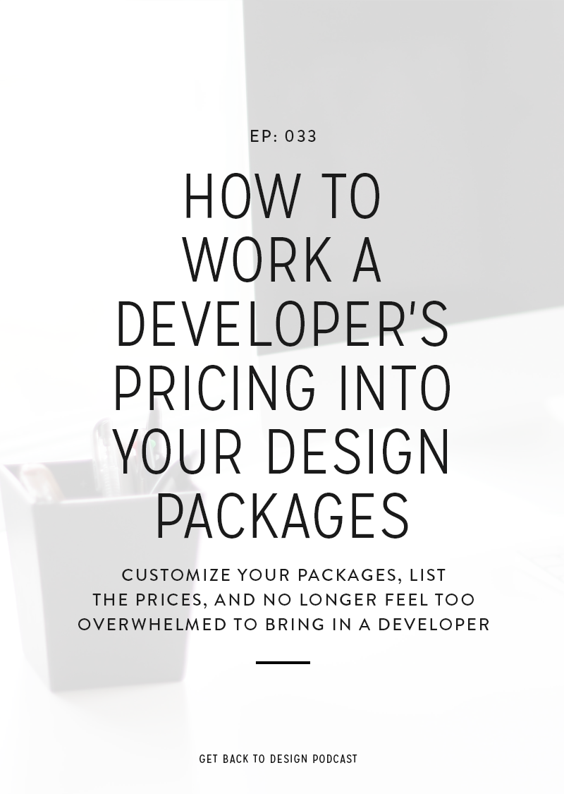 Adding a developer's pricing can be intimidating. We're answering your questions by going over how to work a developer's pricing into your design packages.