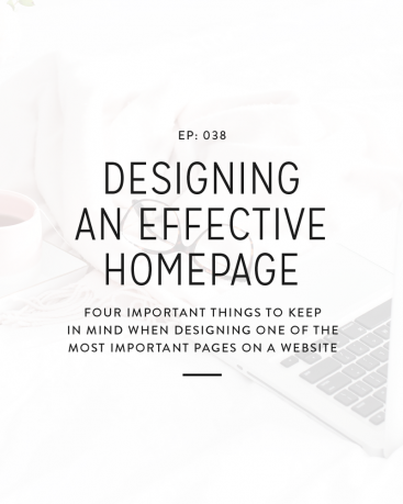 038: Designing An Effective Homepage