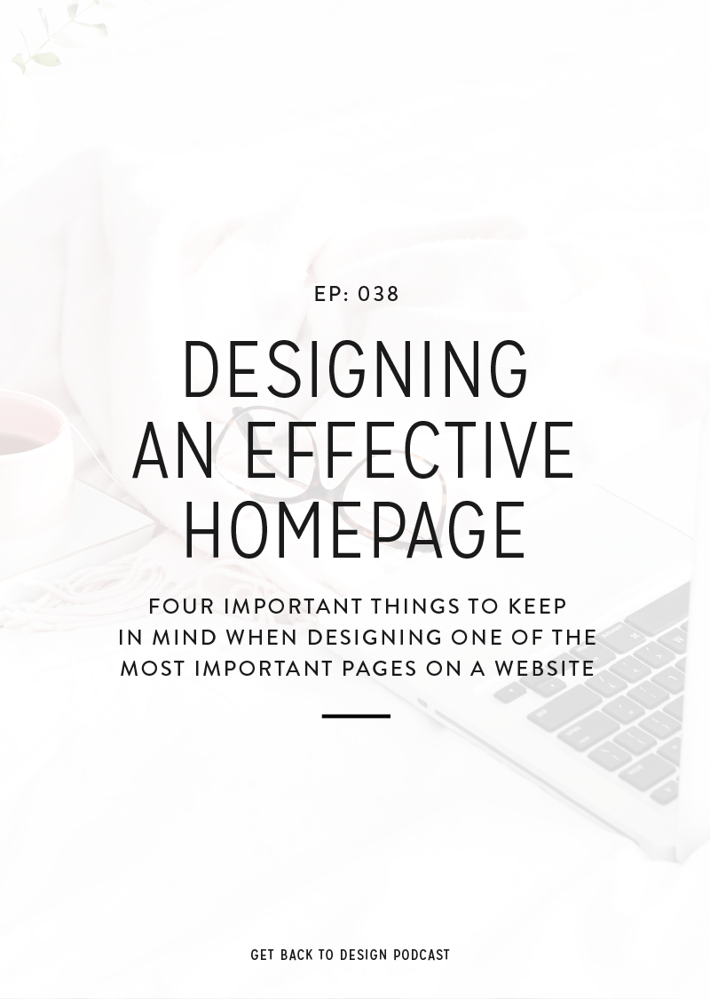 The homepage is one of the most important areas on a website. Today we'll break down one specific piece and talk about designing an effective homepage.