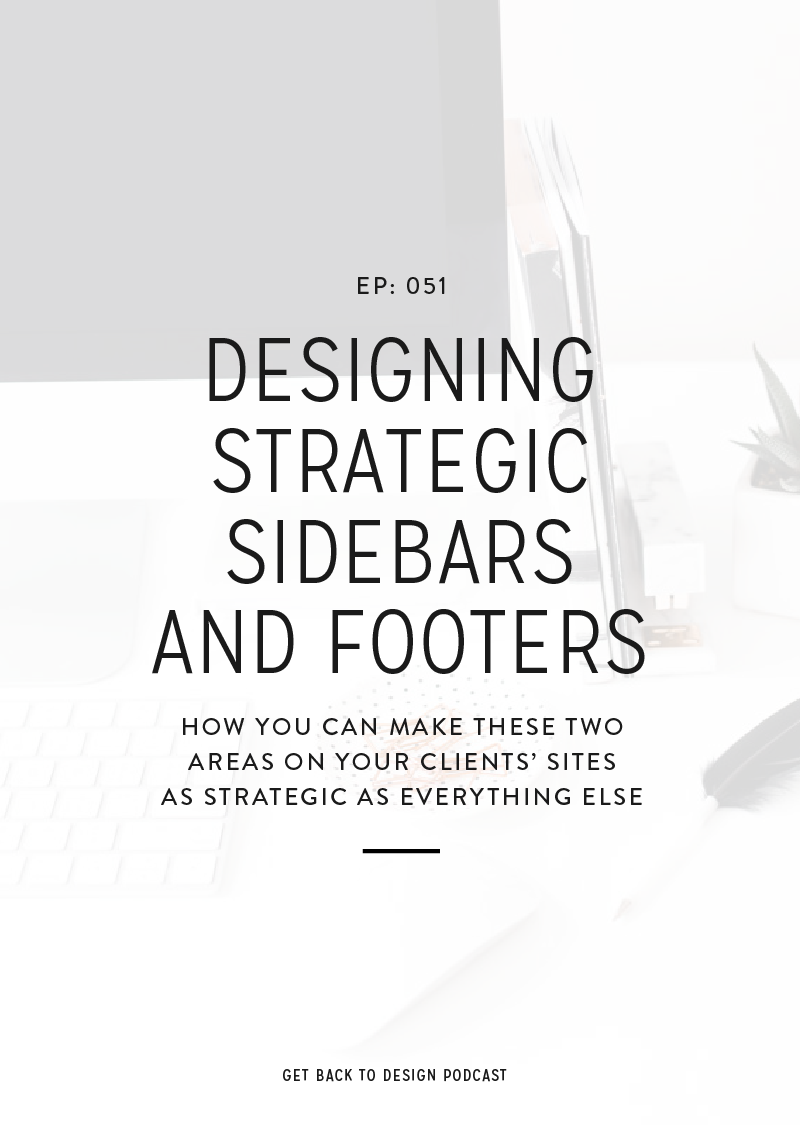 The sidebar of a website tends to be used as a place to throw random items and the footer tends to be forgotten completely. Today we'll talk about how you can make the sidebars and footers in your website designs just as strategic as the rest of the website.