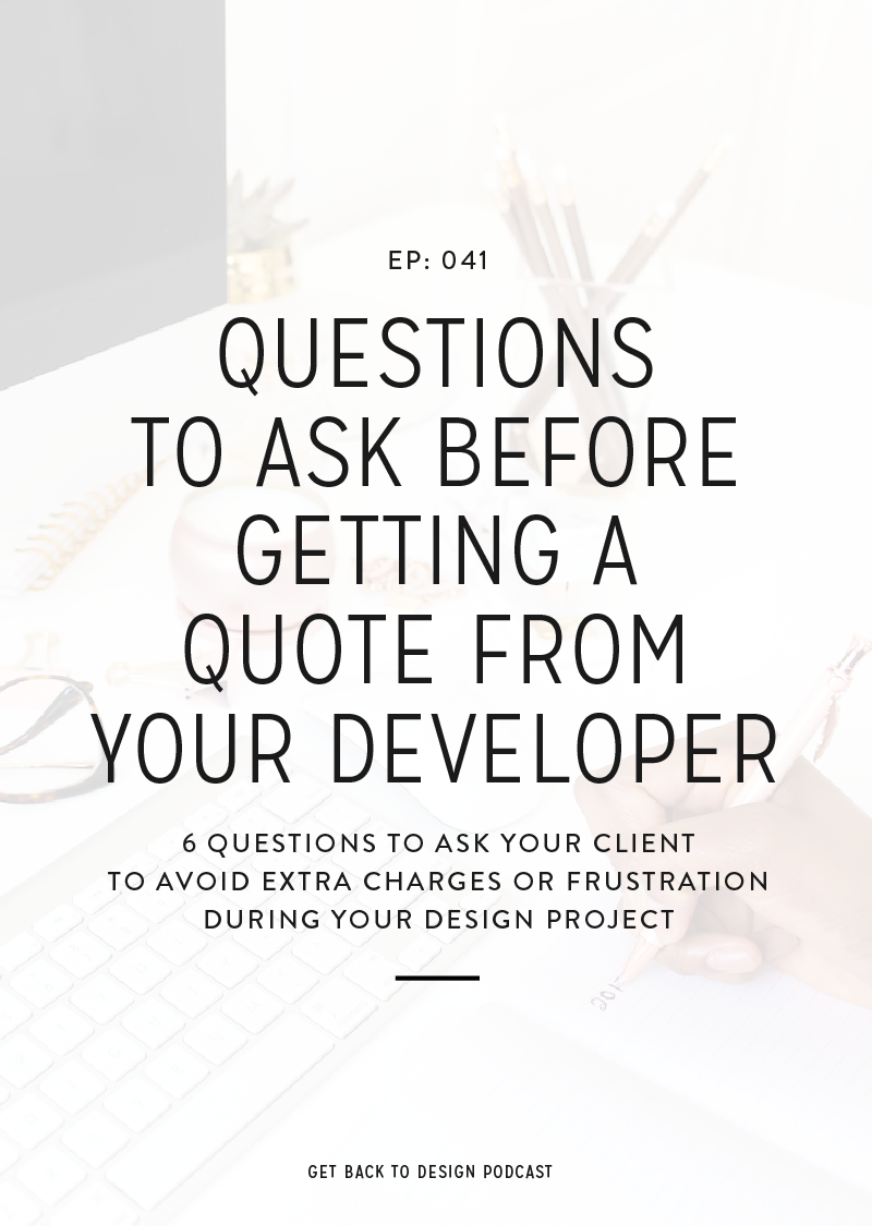 Make sure you avoid first collaboration disasters by asking your clients these 6 questions before getting a quote from your developer.