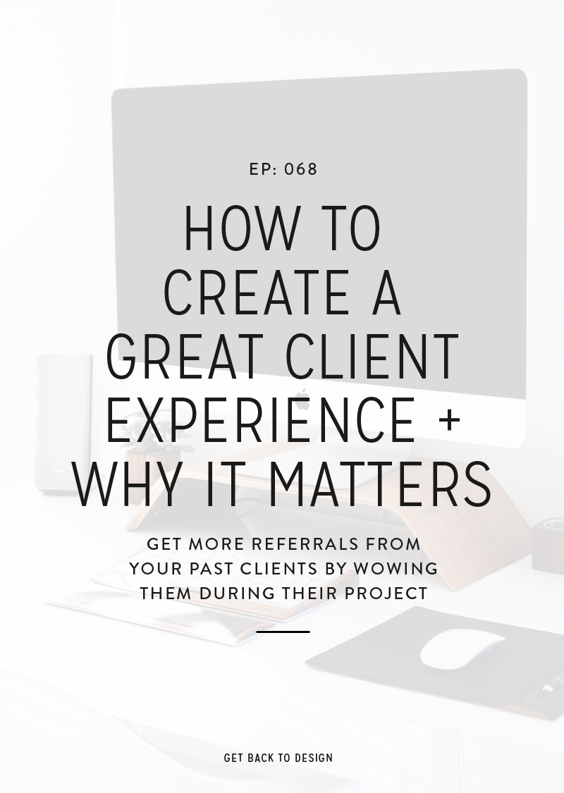 In this week's episode we're going to break down a few things you can do to create a great experience for your clients and the other benefits it'll have for you.