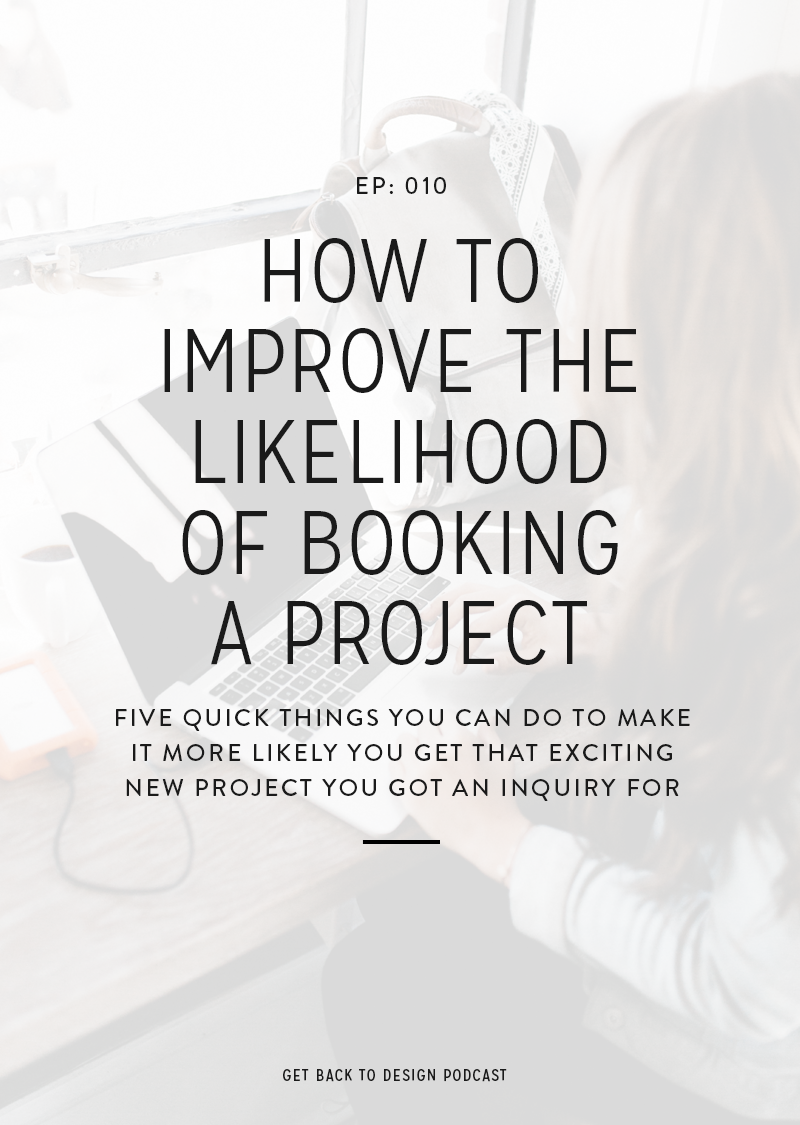 Have you ever gotten an inquiry for a super exciting project only for the potential client to go totally MIA? You're left confused and bummed. Well, no more! We're covering five quick things you can do to help improve your chances of booking all of those dreamy projects.