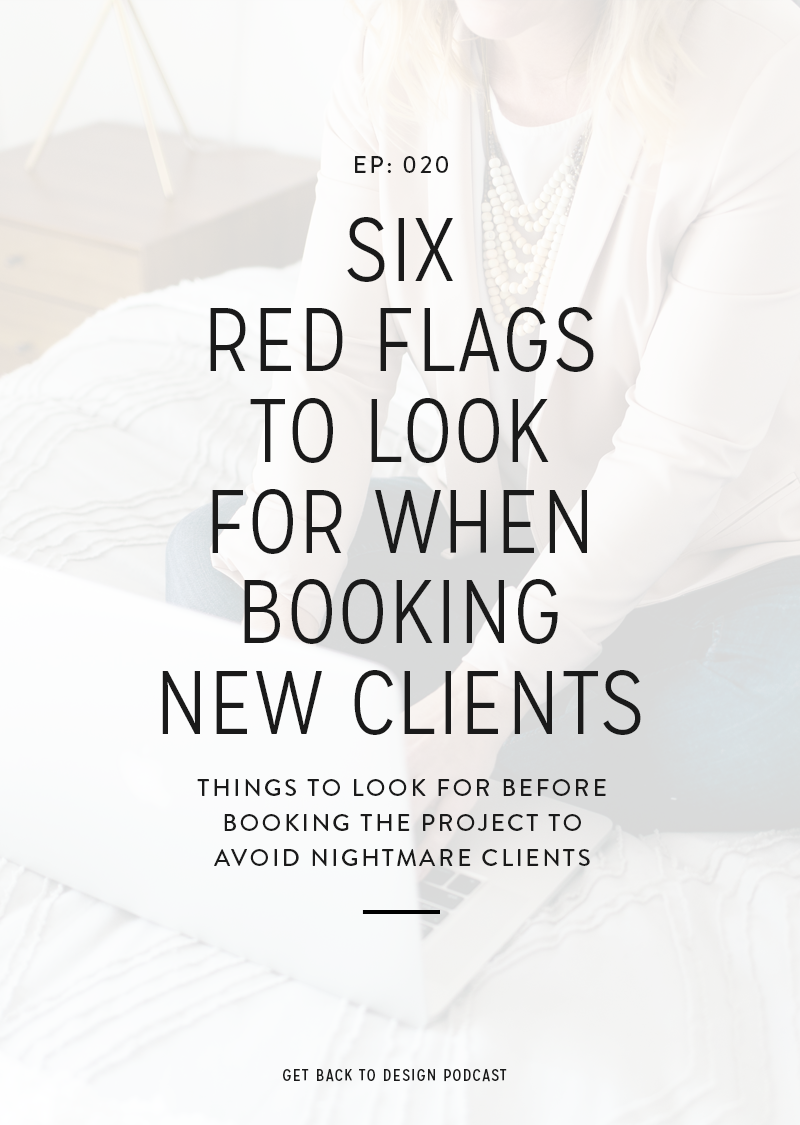 All designers experience a nightmare client at some point in their career. Sometimes you can avoid them, and sometimes you can't. However, today we're going over 6 red flags to look out for before booking a project to help avoid taking on a nightmare client.