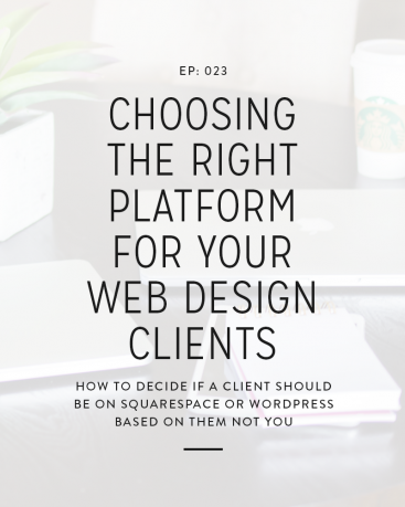 This week, we're going to chat about how to choose the right platform for each specific client and what to do if a client isn't the best fit for the platform you're the most comfortable with.