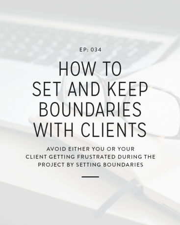 One thing that causes a lot of frustration with design clients is the lack of boundaries. Either the designer hasn't set or maintained them or the client just doesn't respect them. In today's episode we're covering how you can set and keep boundaries with clients.