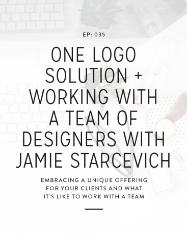 We have gotten a lot of questions in the Facebook group about working with a team or outsourcing some of your work, so we thought it would be great to bring Jamie from Spruce Road onto the podcast to talk a little more about that and her unique approach to branding.
