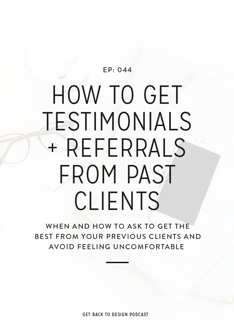 Two of the best things that can help you grow your business are testimonials and referrals from past clients. In today's episode, we're going to cover some ways you can ask for these things in a more casual and comfortable way.