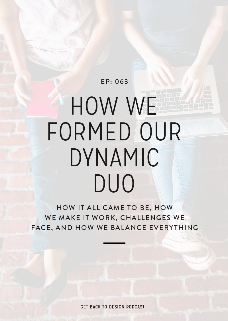 Learn how our dynamic duo came to be, how we make it work, challenges we face, and how we balance everything with our own independent businesses.