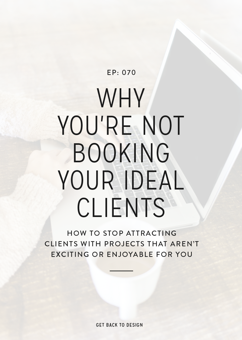 All of the experts online talk about ideal clients and how you can do things to attract them. I know from experience that you can easily book clients, but that doesn't mean you're landing your ideal clients. So we're chatting about why you're not booking your ideal clients so you can work on landing all of those dream projects!