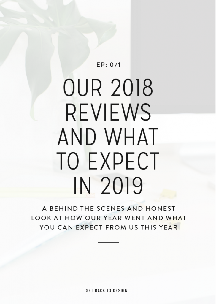 A behind the scenes and honest look at how our year went and what you can expect from us on the Get Back to Design podcast this year