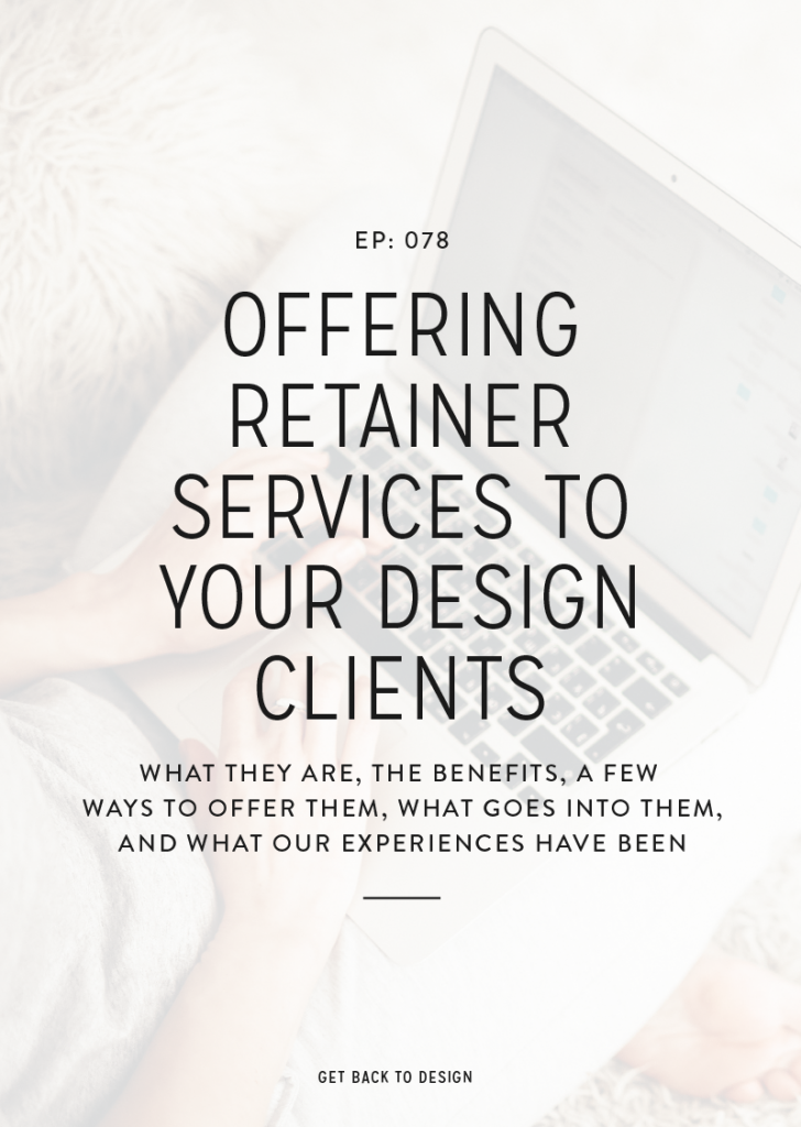 This topic is something that came up a lot in this year's online summit, so today's episode is all about retainers. We are covering what they are, the benefits, a few ways to offer them to a client and what exactly goes into them. We will also be taking a look at how Krista has her packages set up!