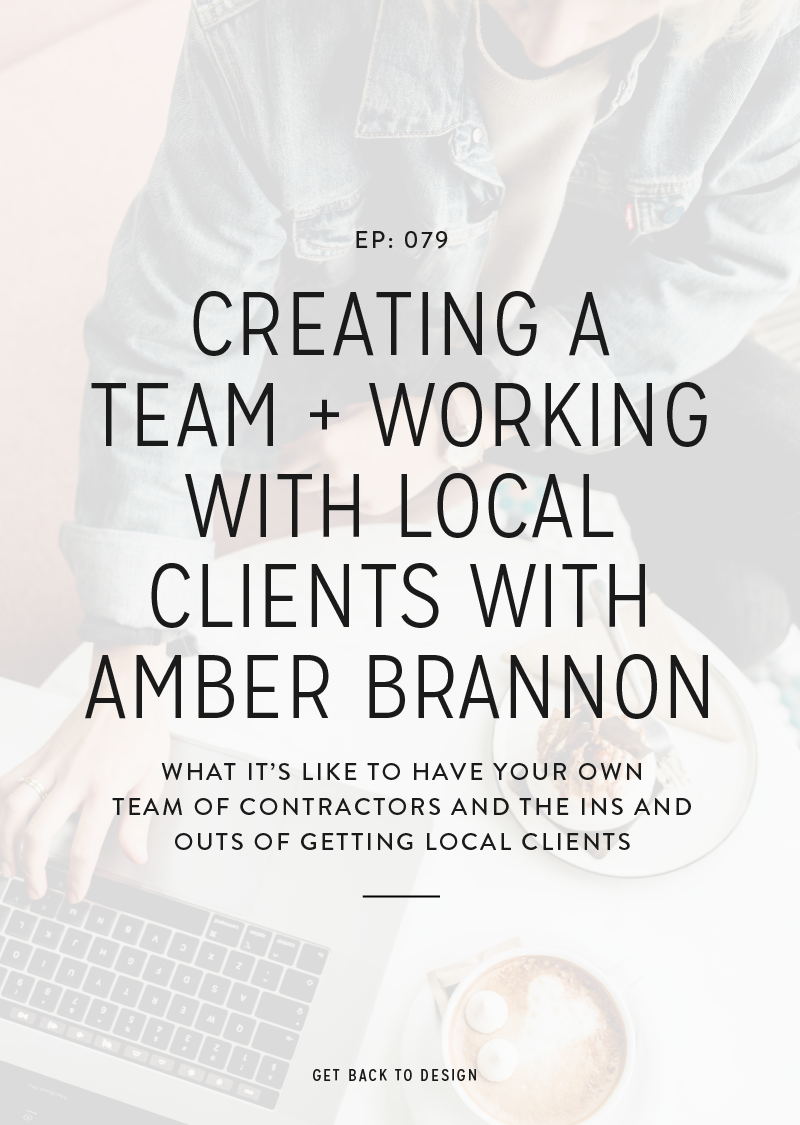 This week on the podcast we're talking to Amber Brannon from Copperheart Creative all about how to create a team and working with local clients